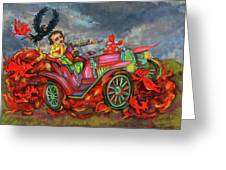 Poe Enjoy The Countryside Greeting Card