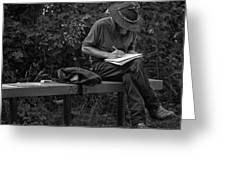 Poet Greeting Card