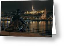 Poet On The Danube Greeting Card