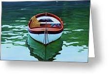Coastal Wall Art, Poetic Light, Fishing Boat Paintings Greeting Card
