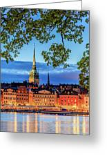 Poetic Stockholm Blue Hour Greeting Card