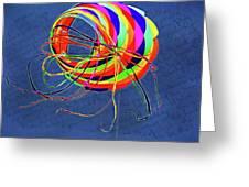 Poetry Of Kite Swirls Greeting Card