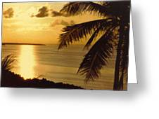 Pohnpei Sunset  Greeting Card