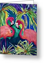 Poin And Settia Dine At The Palm Greeting Card