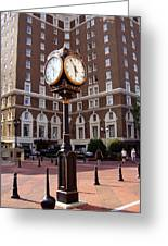 Poinsett Hotel Greeenville Sc Greeting Card