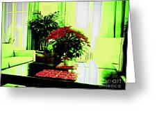Poinsettia By Kef Greeting Card