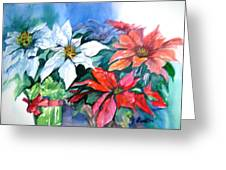 Poinsettia Gifts Greeting Card