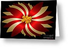 Poinsettia Greeting Card