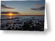 Point Allerton Sunrise - Nantasket Island Greeting Card