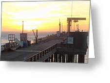 Point Arena Wharf Greeting Card
