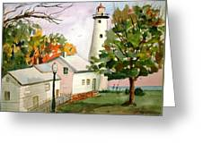 Point Aux Barques Lighthouse - Port Hope Mi Greeting Card