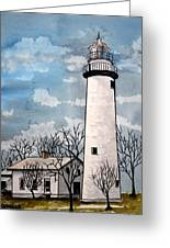 Point Aux Barques Lighthouse Greeting Card