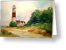 Point Betsie Lighthouse Michigan Greeting Card