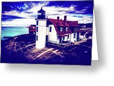 Point Betsie On Lake Michigan Greeting Card