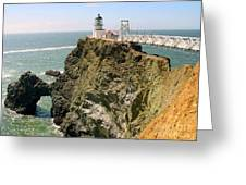 Point Bonita Lighthouse In Marin County California Greeting Card