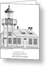 Point Cabrillo Architectural Drawing Greeting Card