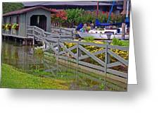 Point Clear Bridge At Grand Hotel Greeting Card