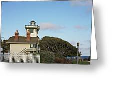 Point Fermin Light - An Elegant Victorian Style Lighthouse In Ca Greeting Card