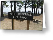 Point Imperial Greeting Card