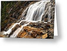 Point Lace Falls 1 Greeting Card