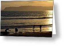 Point Loma California Surfers Greeting Card