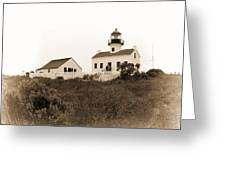 Point Loma Lighthouse Greeting Card