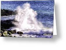 Point Mugu Explosion Greeting Card by William Havle