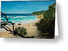 Point Perry Coolum Beach Greeting Card