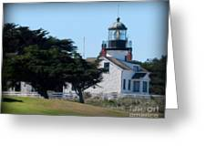 Point Pinos Lighthouse In Pacific Grove, California Greeting Card