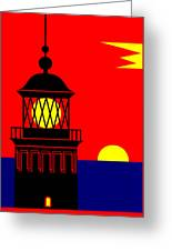 Point Queen Charlotte Light House Greeting Card