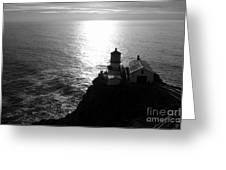 Point Reyes Lighthouse - Black And White Greeting Card