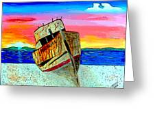 Point Reyes Wreck D2 Greeting Card