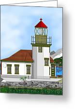 Point Robinson On Vashon Island Greeting Card