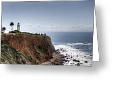 Point Vicente Lighthouse In Winter Greeting Card by Heidi Smith
