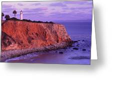 Point Vicente Lighthouse - Point Vicente - Orange County Greeting Card by Photography By Sai