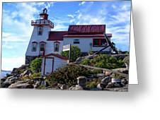 Pointe Au Baril Lighthouse Greeting Card