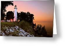 Pointe Aux Barques Greeting Card