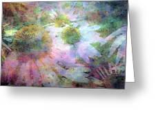 Pointillism Coneflowers 3571 Idp_3 Greeting Card