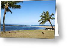 Poipu Beach Greeting Card by Kelley King