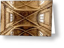 Poissy, France - Ceiling, Notre-dame De Poissy Greeting Card