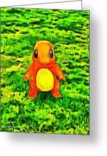 Pokemon Go Charmander - Da Greeting Card