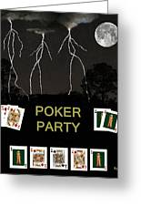 Poker Party  Poker Cards Greeting Card