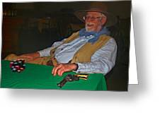 Poker Player Greeting Card