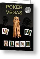 Poker Vegas Scream Greeting Card