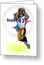 Polamalu  Greeting Card