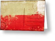 Poland Flag Postcard Greeting Card