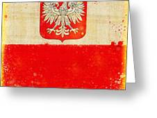 Poland Flag Greeting Card by Setsiri Silapasuwanchai