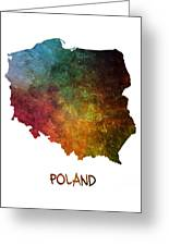 Poland Map Polska Map Greeting Card