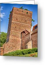 Poland, Torun, Crooked Tower. Greeting Card