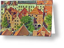 Poland, Torun, Houses. Greeting Card